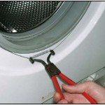 Хомут на манжете стиральной машины