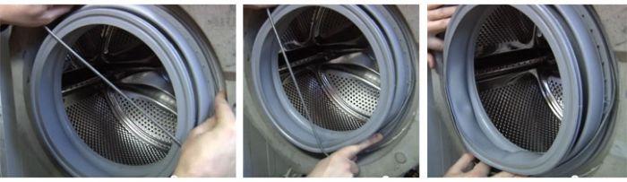 Как надеть манжету стиральной машины на бак