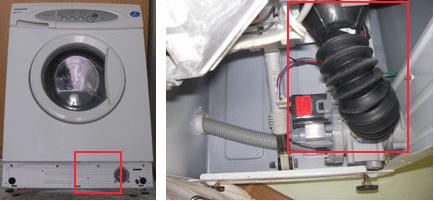 Сливной патрубок бака стиральной машины