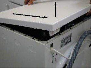 Как снять крышку стиральной машинки