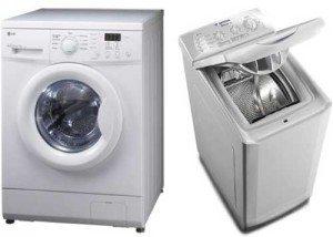 Фронтальная и вертикальная загрузка стиральной машины