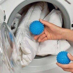 Стирка пуховика в стиральной машине с шариками
