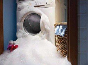 Пошла пена из стиральной машины