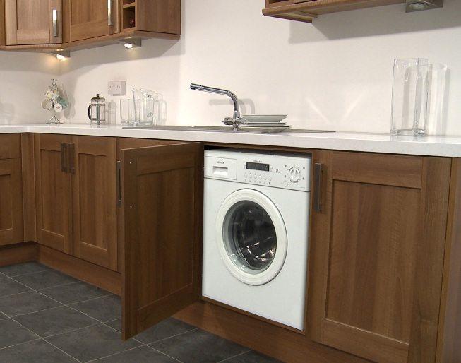 Стиральная машина на кухне - особенности установки