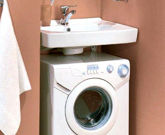 Установка стиральной машины под раковиной - советы