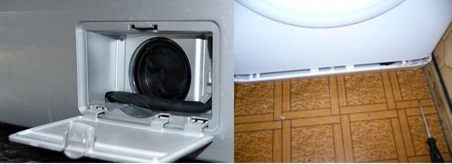 чистка сливного насоса стиральной машины
