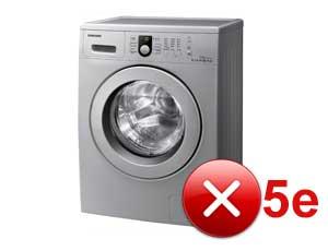 Ошибка 5E (SE) в стиральной машине Samsung