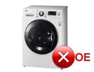 ошибка стиральной машины oe
