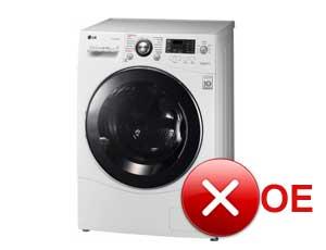Ошибка OE в стиральной машине LG