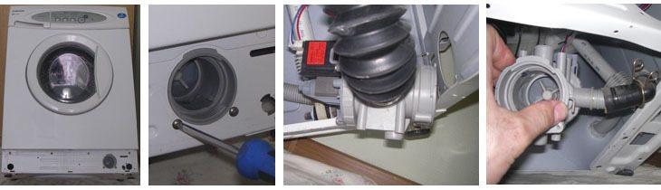 сливной насос и патрубок в стиральной машине Самсунг