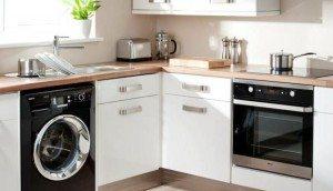 Как встроить стиральную машину на кухне и в ванной