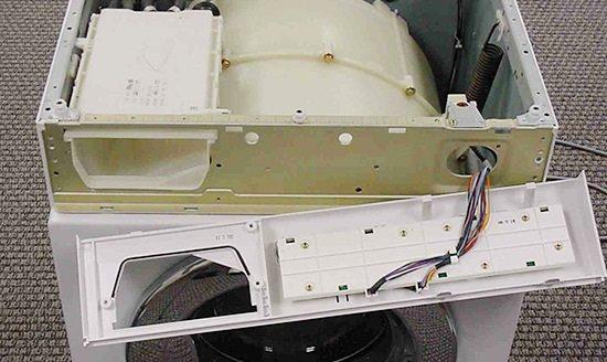 панель управления в стиральной машинке