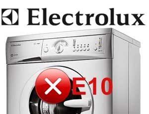 Ошибка E10 в стиральной машине Электролюкс