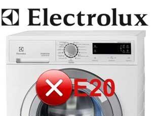 ошибка E20 в машинке Электролюкс