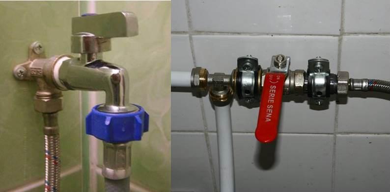кран подачи воды на стиральную машину