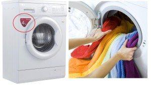 перегрузили барабан стиральной машины бельем