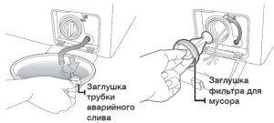 схема аварийного слива воды