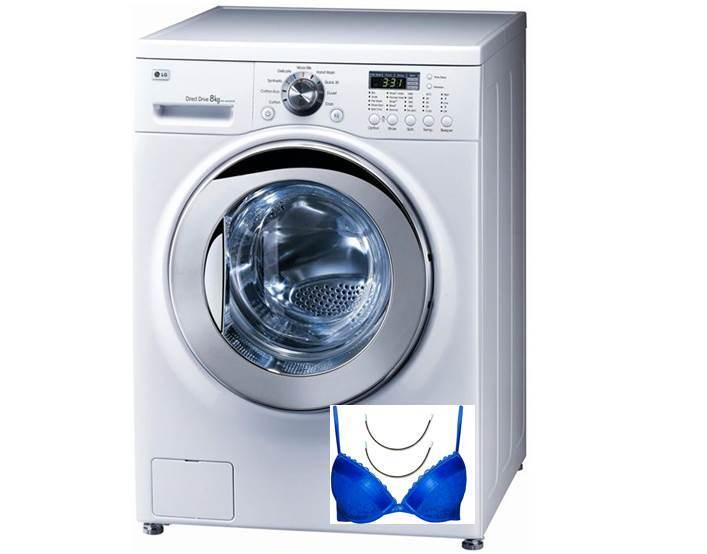 Косточка от бюстгальтера попала в стиральную машину