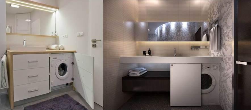 Стиральная машина в ванной - как поставить или спрятать