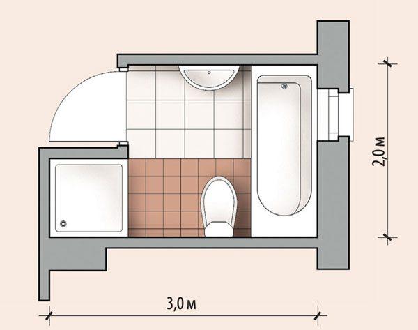 стиральная машина в нише ванной