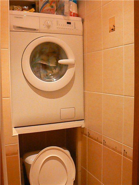 стиральная машина в нише