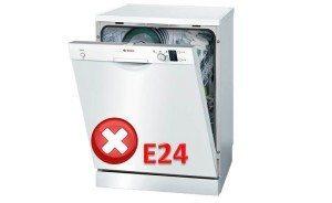 Ошибка E24 у посудомоечной машины Bosch