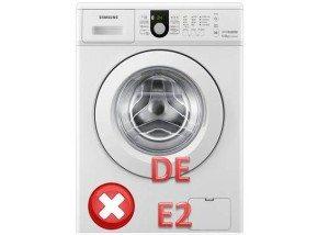 ошибки DE е2 в стиральной машине Самсунг