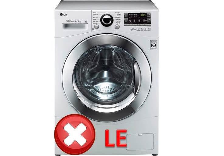 Код неисправности LE и 1E на стиральной машине LG