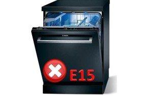 Код неисправности E15 у посудомоечной машины Bosch