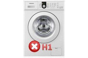 ошибка h1 в стиральной машине Самсунг