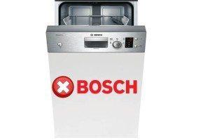 Ошибки посудомоечных машин Бош