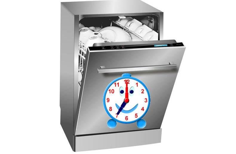Сколько времени моет посудомоечная машина?