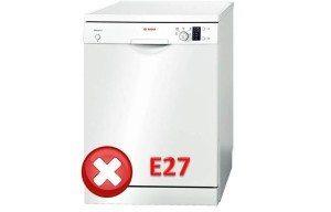 ошибка Е27 в посудомойке Бош