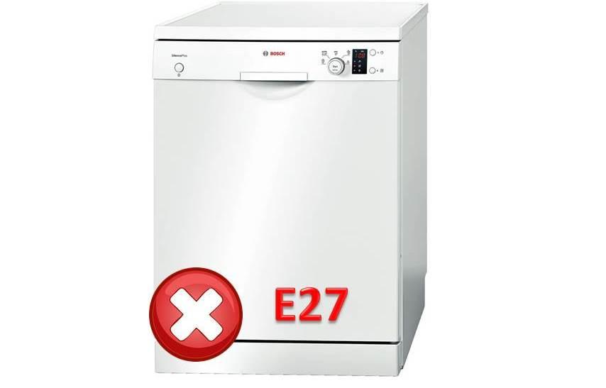 Ошибка E27 у посудомоечной машины Bosch