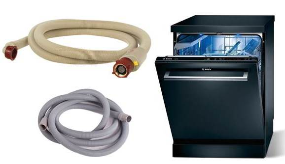 Как заменить заливной и сливной шланг посудомоечной машины