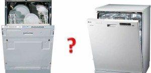 Встраиваемые и невстраиваемые посудомойки — в чем разница?