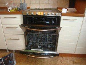 посудомойка с плитой
