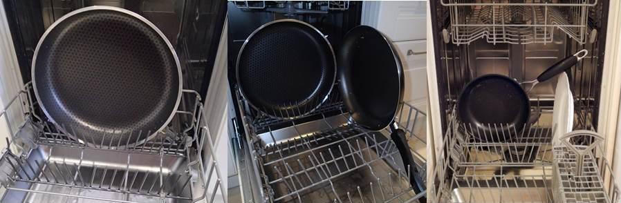 расстановка сковород в посудомойке