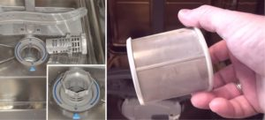 чистка фильтра посудомойки