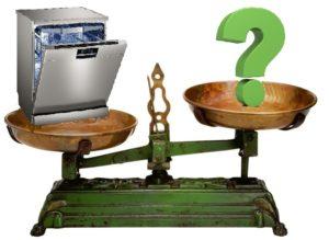 вес посудомоечной машины