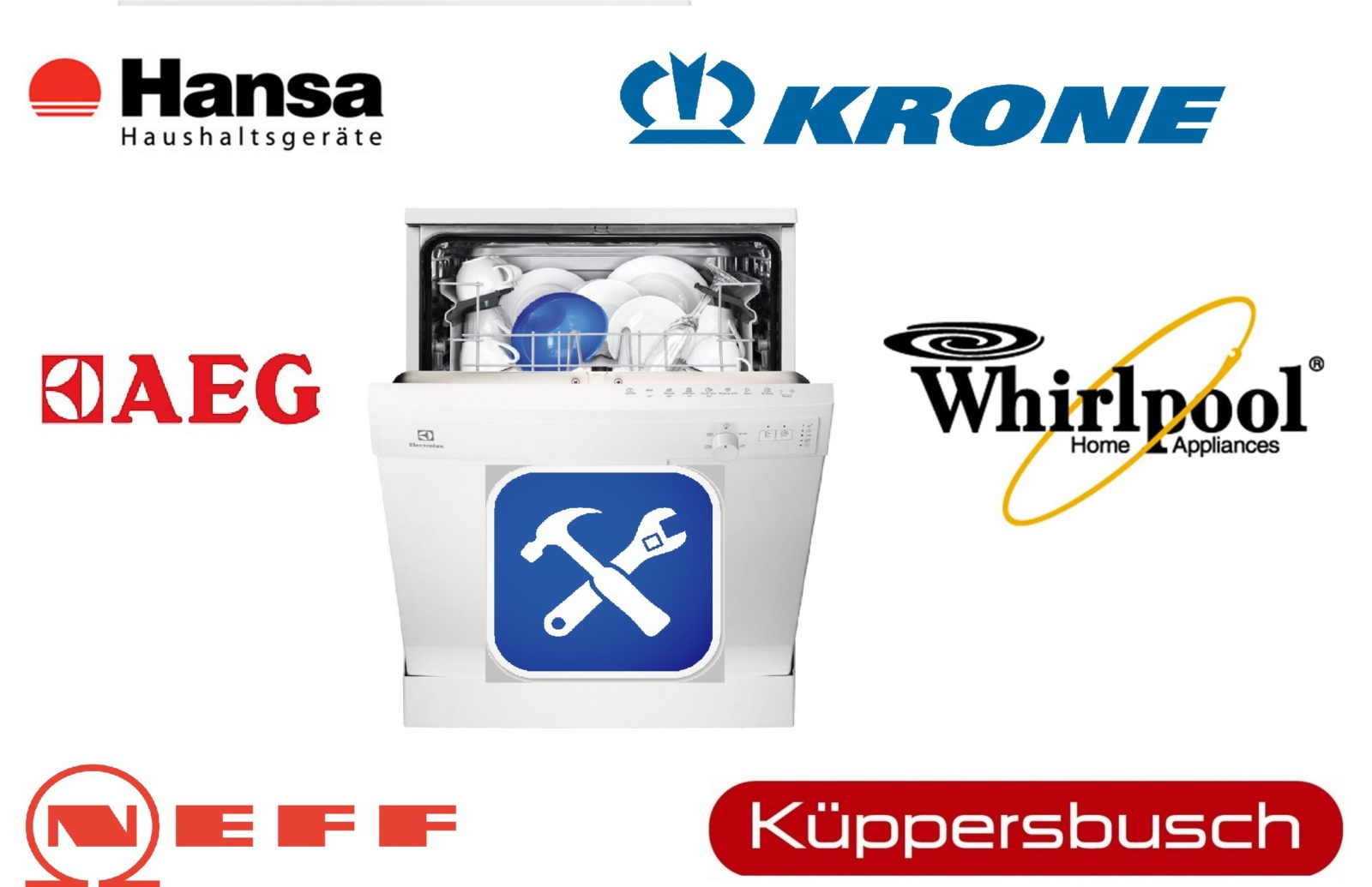 Ремонт и неисправности разных посудомоечных машин