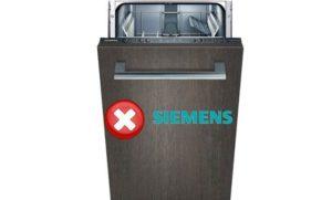 Коды ошибок посудомоечной машины Siemens