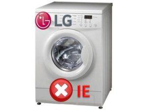 Ошибка IE в стиралке LG