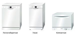 ширина посудомоечных машин