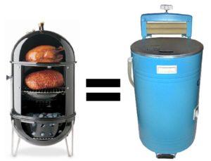 Как сделать коптильню из стиральной машины