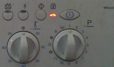 На стиральной машине горит индикатор ключ или замок