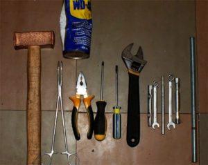 инструменты для ремонта машинки