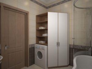 Полки в ванной над стиральной машиной