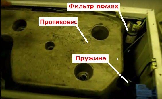 стиральная машина Аристон без верхней крышки