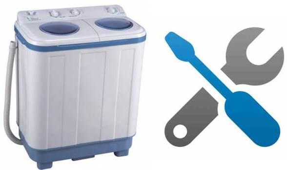 Ремонт неисправностей стиральных машин полуавтомат
